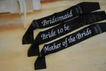 Hens Party Black Satin Sashes image