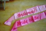 Hens Party Pink Budget Satin Sashes image