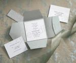 Wilton Traditional Premium Pocket Silver Invitation Kits x 25 image