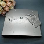 Silver Wedding or Engagement Guest Book image