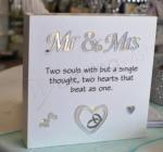 Light Up Block Sign - Mr and Mrs image