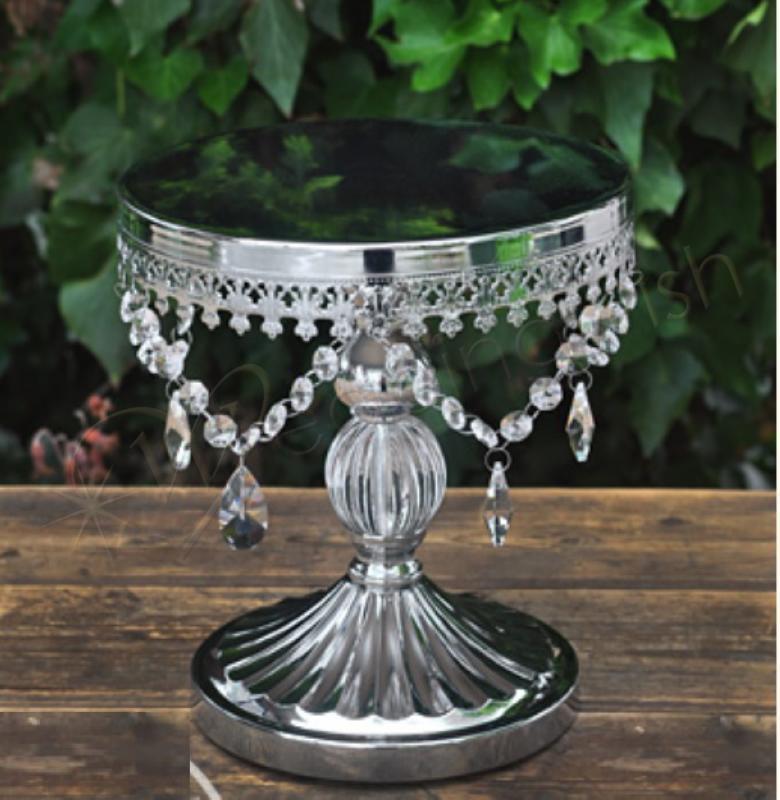 Wedding Antique Look Pillar Cake Stand Silver Wedding Wish