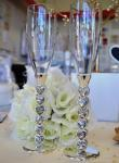 Diamante Heart Stem Champagne Toasting Flutes image