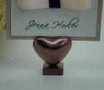 Bronze / Rose Gold Heart Placecard Holder x 4 image