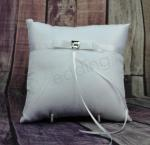 Ring Cushion - White Princess Ring Pillow Square Embellishment image