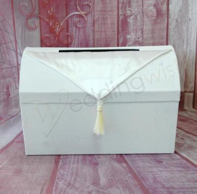 Card Box Wedding.Wedding Ivory Wedding Treasure Chest Satin Card Box