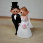 Bride And Groom Roses Figurine Cake Topper image
