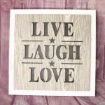 Live Laugh Love LED Wall Plaque image