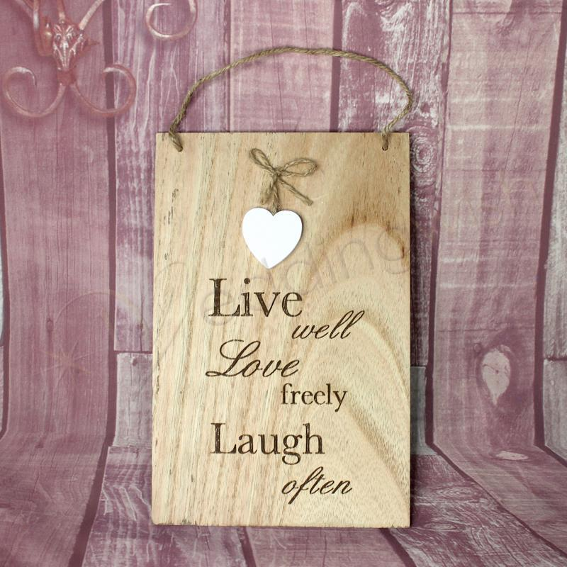 Wedding Wall Plaque - Live Well Love Freely