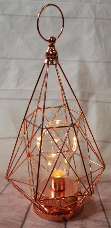 Wedding Light Up Rose Gold Centrepiece Led Battery Operated Wish Image 1