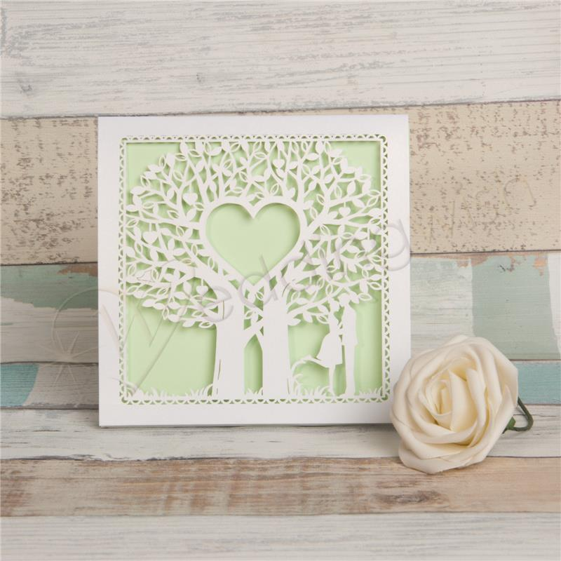 Wedding Fairytale Laser Cut Tree Wedding Invitation Card - Wedding Wish