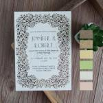 Exquisite Flat Laser Cut Wedding Invitations image