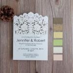 Vintage Lace Inspired Laser Cut Wedding Invitations image