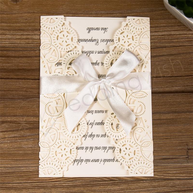 Wedding Unique Laser Cut Fashion Wedding Invitation Card With Ribbon Weddingwish Com Au