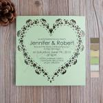 Sweat Heart Flat Laser Cut Invitations image