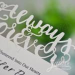 Always Love Laser Cut Wedding Invitation Card image