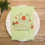 Joyous and Cheerful Laser Cut Christmas Cards image