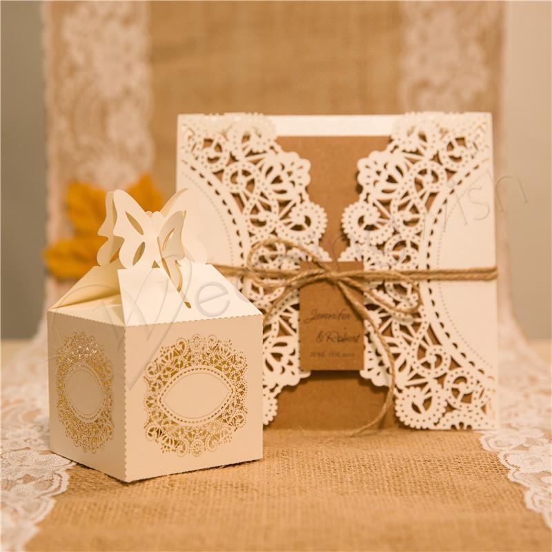Wedding Affordable Rustic Laser Cut Wedding Favor Boxes Wedding Wish