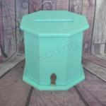 Octagon Aqua Timber Card Box- Wishing Well image