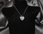 Swirl Heart Swarovski Crystal Necklace image