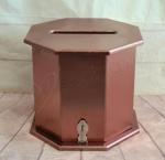 Octagon Bronze / Rose Gold Timber Card Box, Wishing Well image
