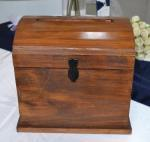 Large Timber Stained Wooden Treasure Chest  image