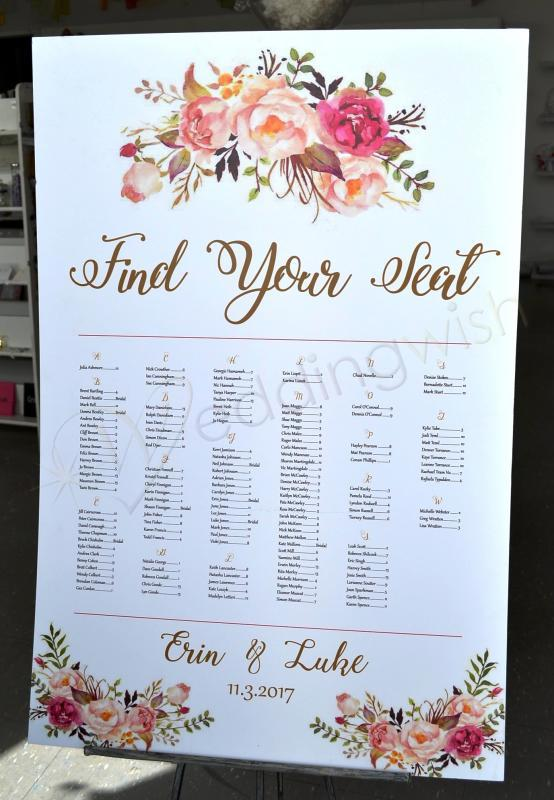 Wedding Seating Chart Cottage Peony And Roses