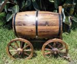 Wine Barrel Rustic Wishing Well - Hire Only image