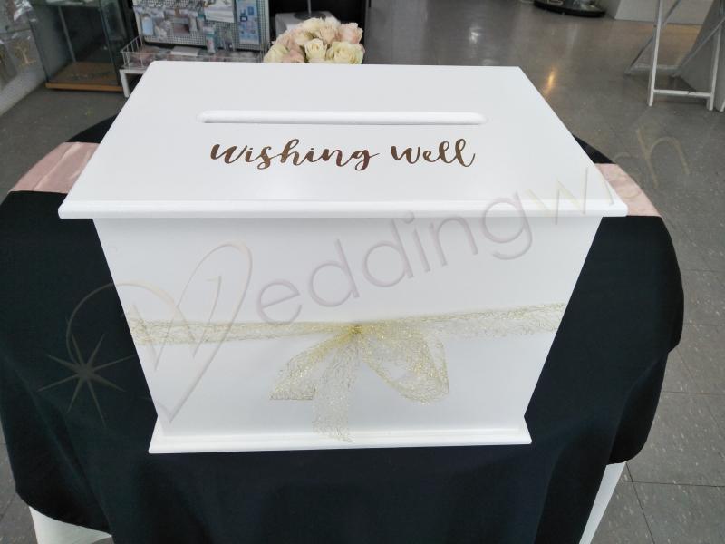 Wedding Wishing Well.Wedding Large White Wishing Well With Wishing Well Decal