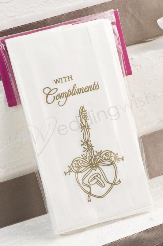 wedding gold hearts cake bags 25 bags wedding wish. Black Bedroom Furniture Sets. Home Design Ideas