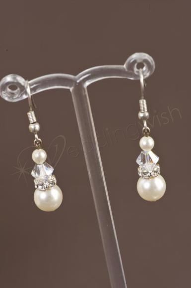 Wedding Timeless Swarovski Crystal and Pearl Earrings ...