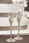 Crystal and Silver Toasting Glasses image