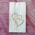 Brushed Gold Hearts Cake Bags - 25 bags image