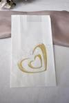 Wedding Cake Bags - Simple Gold Hearts - 25 bags image