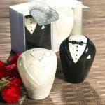 Bride and Groom Salt and Pepper Shakers image