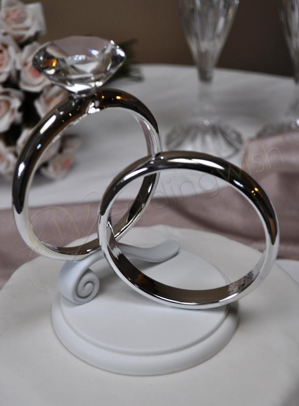 wedding ring cake toppers