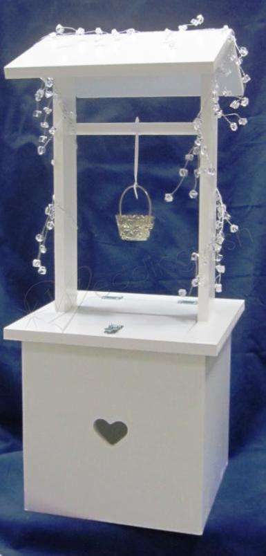 Wedding White Wishing Well With Small Heart