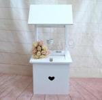 White Wishing Well with Small Heart image
