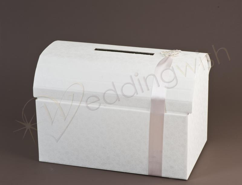 Wedding Embossed Italian White Treasure Chest Card Box Wedding Wish – Wedding Treasure Chest Card Box