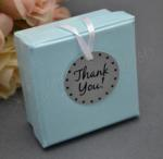 Metal Thank You Tags x 12 with Ribbon image