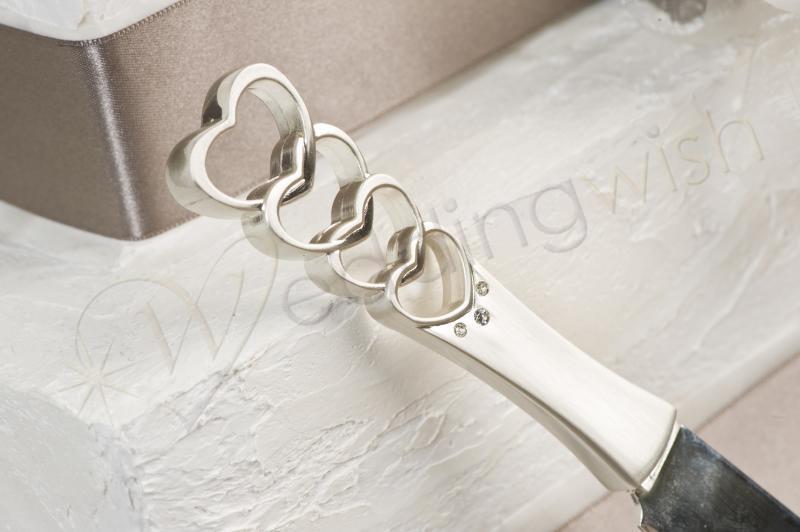 Wedding Pewter And Diamante Cake Knife Wedding Wish