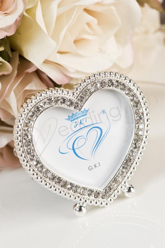 Wedding Heart Shape Frame With Diamantes Wedding Wish