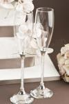 Crystal Stem Champagne Glasses - No Heart image