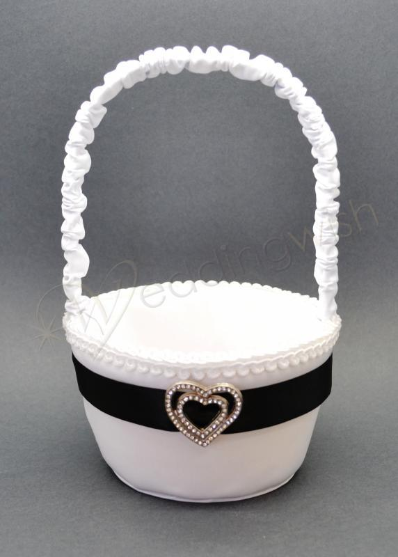 White flower girl baskets images flower decoration ideas white flower girl basket gallery flower decoration ideas wedding black and white flower girl basket with mightylinksfo