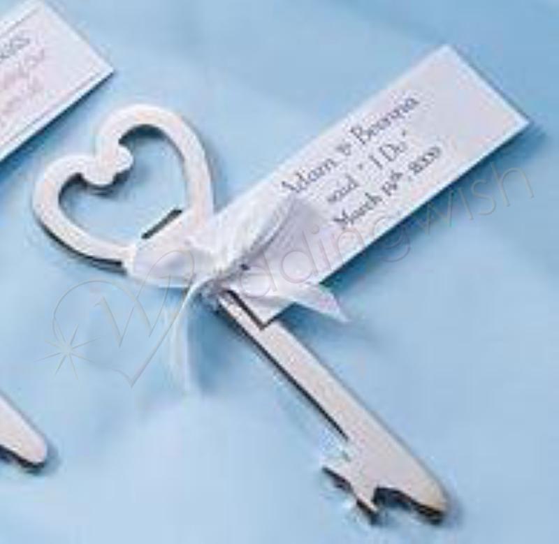 wedding key shaped bottle opener favour kit 18 in set wedding wish. Black Bedroom Furniture Sets. Home Design Ideas
