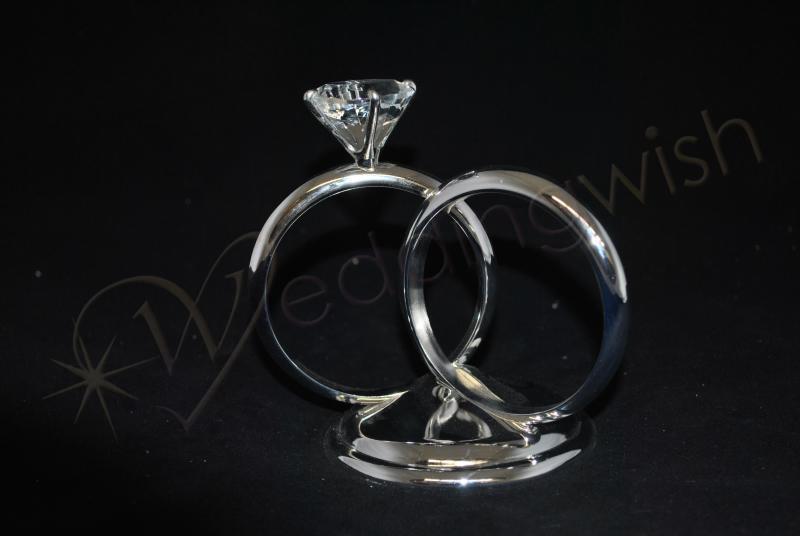 Wedding Two Rings Metal Cake Topper Wedding Wish