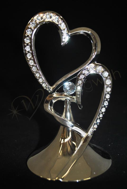 double heart wedding cake toppers images