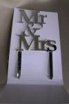 Mr and Mrs Mirror Cake Topper image