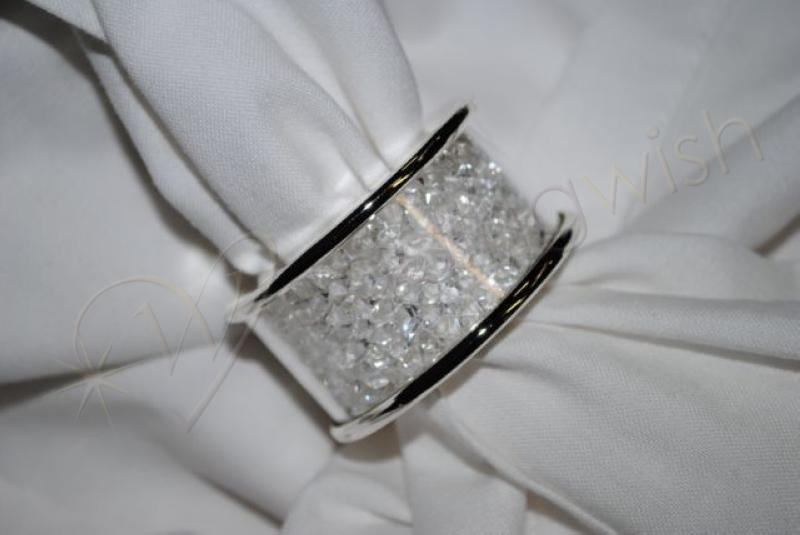 Wedding Crystal napkin ring Wedding Wish