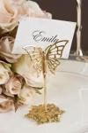 Gold Butterfly Place Card Holders X 4 image